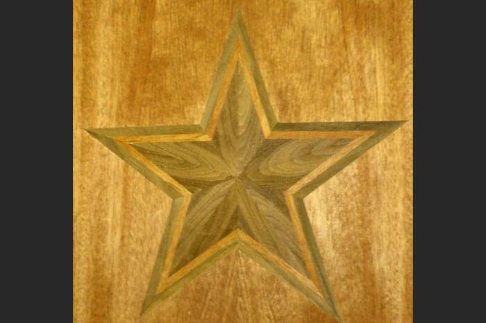 Mahogany and Walnut Dallas Star