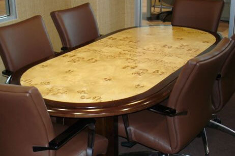 Mappa Burl Conference Room Table